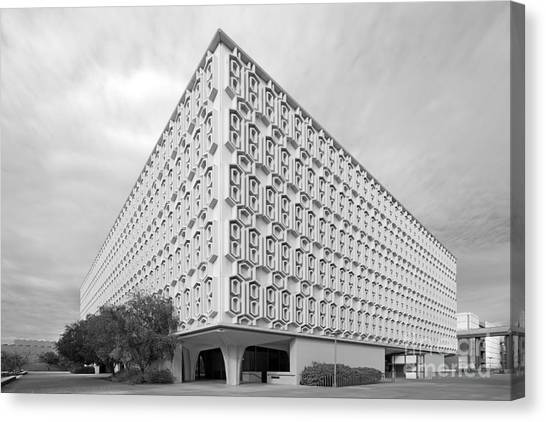 Cal State Fullerton Canvas Print - Cal State University Pollak Library by University Icons
