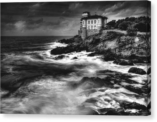 Beach Cliffs Canvas Print - Calafuria. by Antonio Grambone