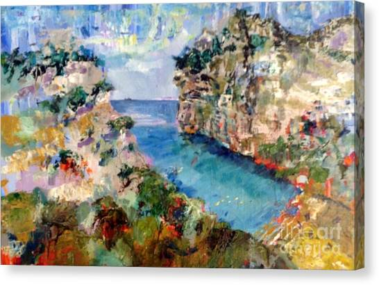 Calanque D'en Vau-1 Canvas Print by Chris Irwin Walker