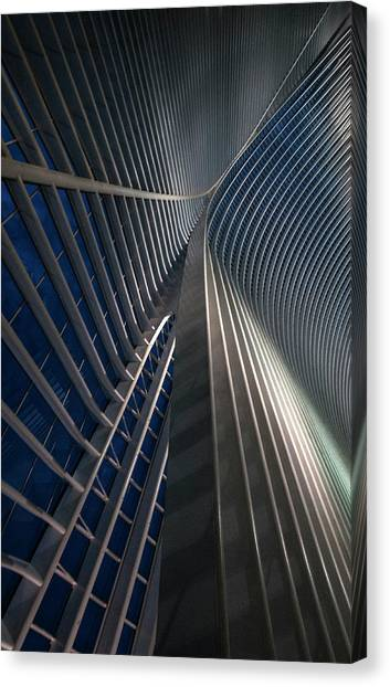 Modern Architecture Canvas Print - Calatrava Lines At The Blue Hour by Jef Van Den