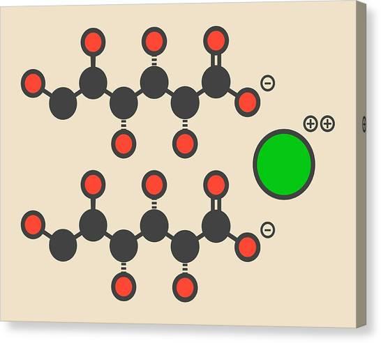 Calcium Gluconate Drug Molecule Canvas Print by Molekuul