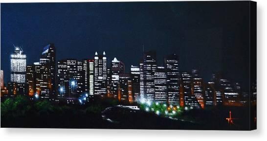Calgary Canada No Moon Canvas Print