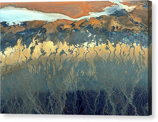 Death Valley Canvas Print - California Aerial by Tanja Ghirardini