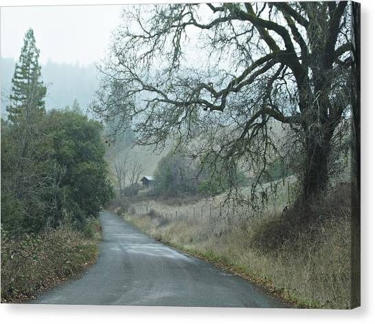 California Back Country Road Canvas Print