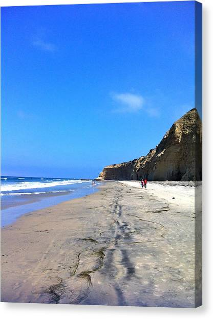 California Beach Hike Canvas Print