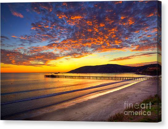 Avila Beach Sunset Canvas Print