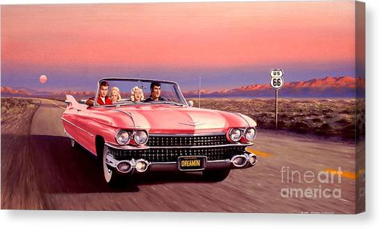 Artist Michael Swanson Canvas Print - California Dreamin' by Michael Swanson