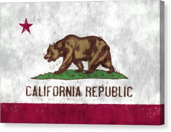 Sacramento State Canvas Print - California Flag by World Art Prints And Designs