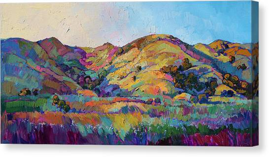Wine Country Canvas Print - California Greens II by Erin Hanson