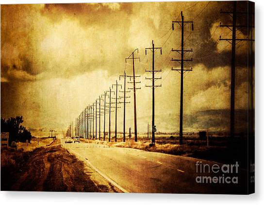 California Highway Canvas Print by Pam Vick