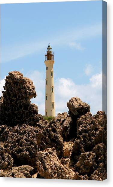 California Lighthouse Aruba Canvas Print