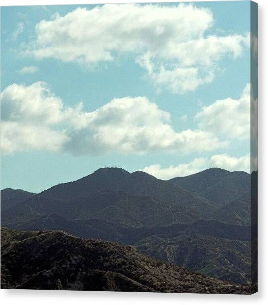 Trucks Canvas Print - California Mountain Scape by Kelli Stowe