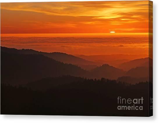 California Mountain Sunset Canvas Print by Matt Tilghman