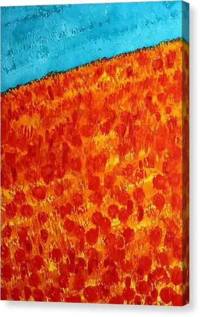 California Poppies Original Painting Canvas Print