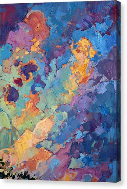 Rolling Hills Canvas Print - California Sky Quadtych - Upper Right Panel by Erin Hanson
