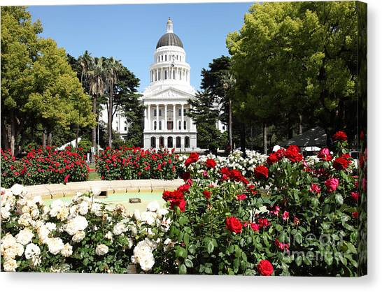 Sacramento State Canvas Print - California State Capitol by Denis Tangney Jr
