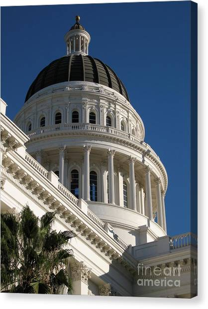 California State Capitol Dome Canvas Print