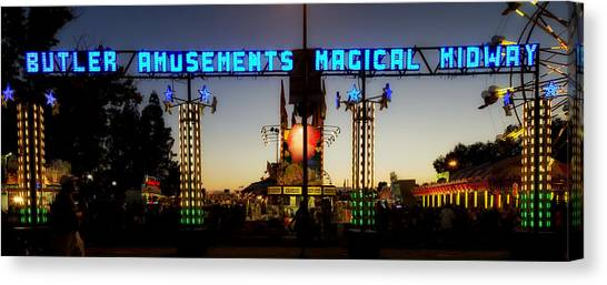 Big West Canvas Print - California State Fair In Sacramento by Mountain Dreams