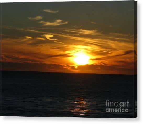 California Winter Sunset Canvas Print