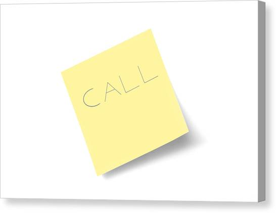 Call Note Canvas Print by Macroworld