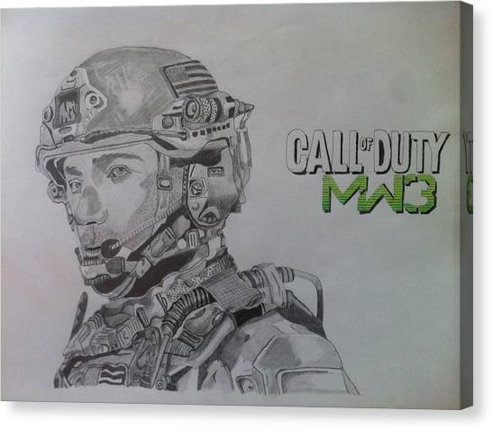 Call Of Duty Canvas Print - Call Of Duty Soldier by Gordon Macmillan