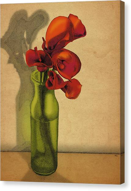 Calla Lilies In Bloom Canvas Print