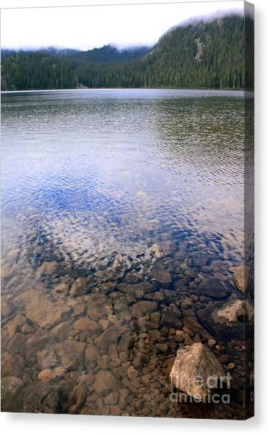 Callaghan Lake Stones Canvas Print by Amanda Holmes Tzafrir
