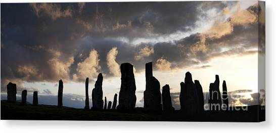 Rainclouds Canvas Print - Callanish Standing Stones by Tim Gainey
