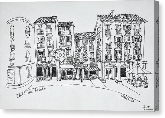 Scotty Canvas Print - Calle De Toledo Shopping Street by Richard Lawrence