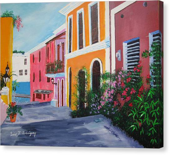 Callejon En El Viejo San Juan Canvas Print