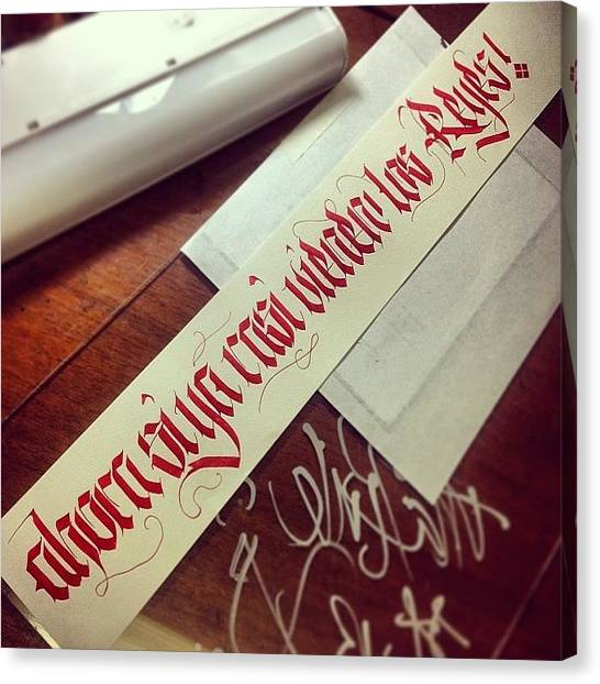 Freestyle Canvas Print - #calligraphy #caligrafia #lettering by Leonardo Velazquez