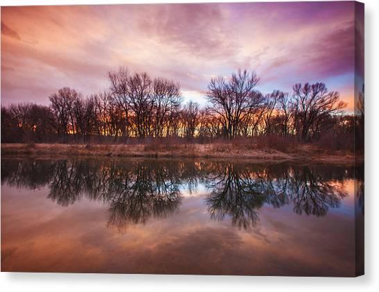 Lake Sunrises Canvas Print - Calm Before The Storm by Darren  White