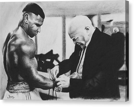 Mike Tyson Canvas Print - Calm Before The Storm by Jimmy Chard