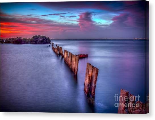 Low Tide Canvas Print - Calm Before The Storm by Marvin Spates