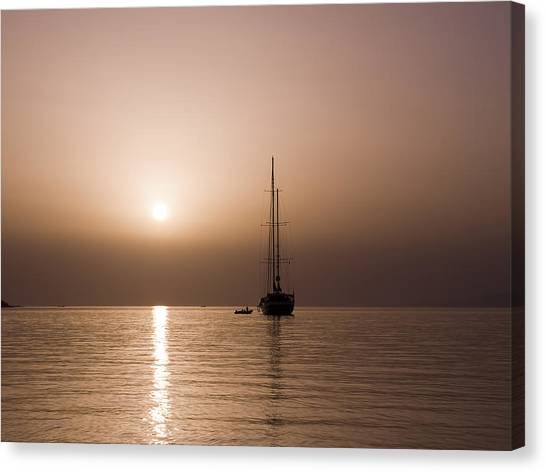 Calm Sea And Quiet Voyage Canvas Print