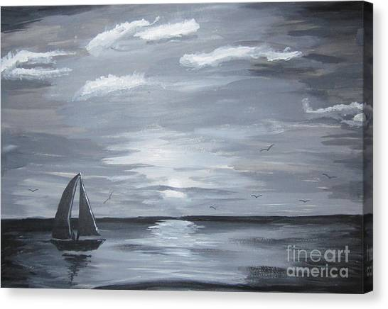 Calm Seas Canvas Print by Haleema Nuredeen