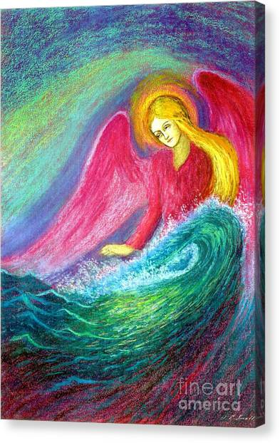 Catholic Canvas Print - Calming Angel by Jane Small