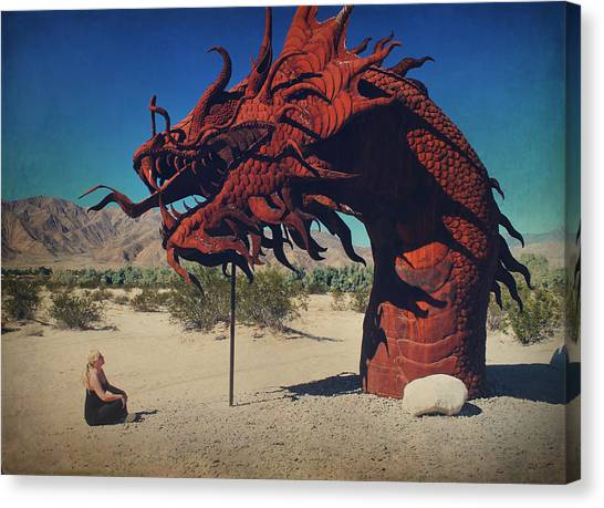 Installation Art Canvas Print - Calmly Facing Down My Demon by Laurie Search