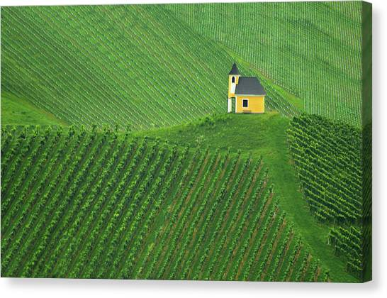 Church Canvas Print - Calmness by Jure Kravanja