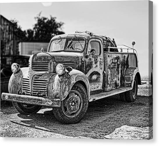 Calusa Rural Fire Truck No2 Canvas Print