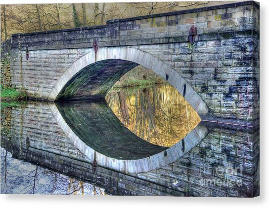 Calver Bridge Reflection Canvas Print