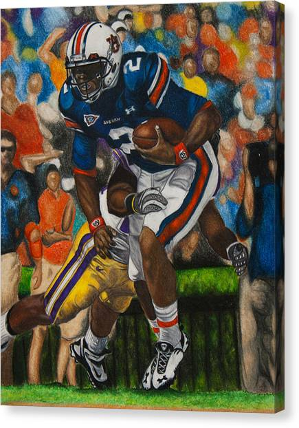 Cam Newton Canvas Print - Cam Newton - Lsu by Lance Curry