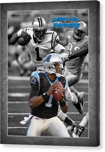 Cam Newton Canvas Print - Cam Newton Panthers by Joe Hamilton