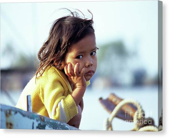 Cambodian Girl 01 Canvas Print