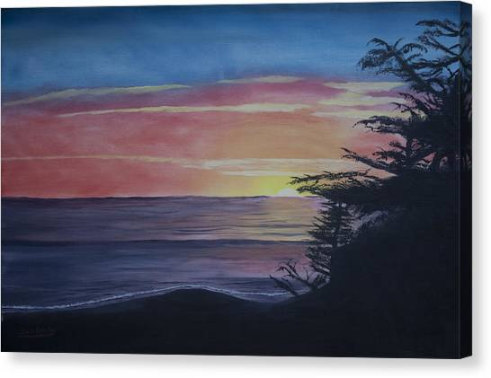 Cambria Setting Sun Canvas Print