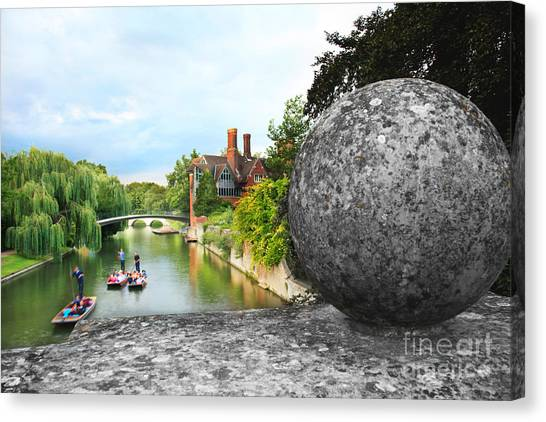 Punting In Cambridge Canvas Print