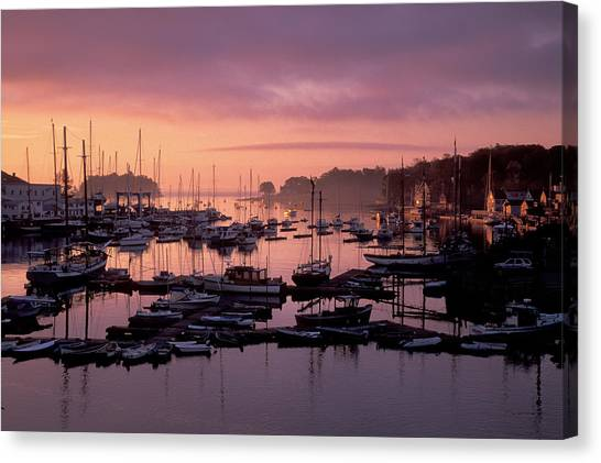 Camden Harbor Canvas Print