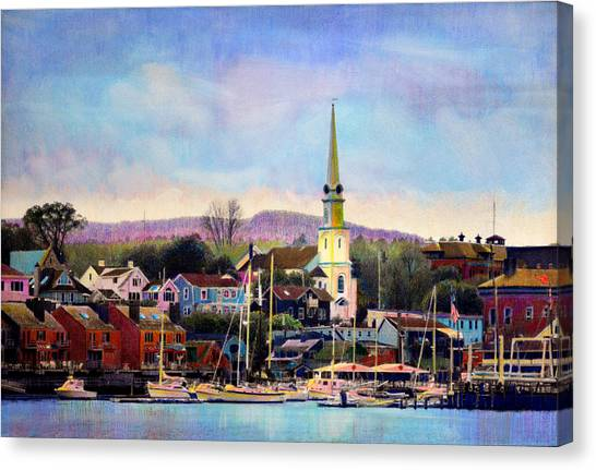 Camden Maine Harbor Canvas Print