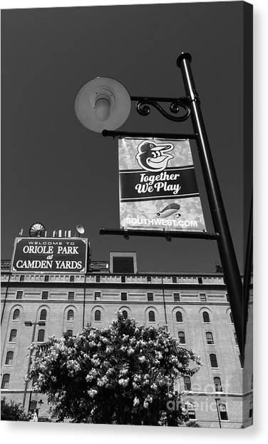 South Baltimore Canvas Print - Camden Yards Baltimore by James Brunker