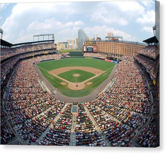 Orioles Canvas Print - Camden Yards Baltimore Md by Panoramic Images